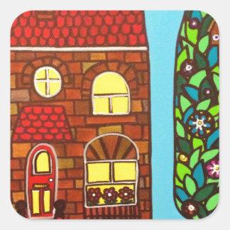 Tiny House Square Sticker
