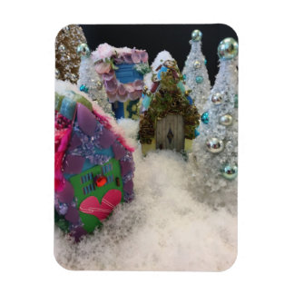 Tiny Houses In Winter Wonderland Magnet