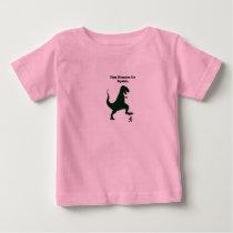 Tiny Humans Go Squish Funny Dinosaur Cartoon Baby T-Shirt