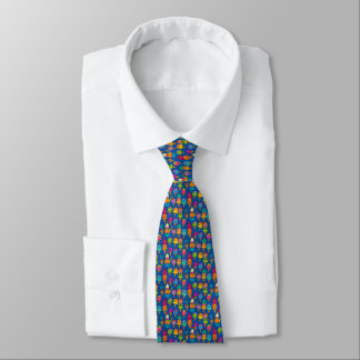 Tiny Ice Cream Cones on Blue Neck Tie