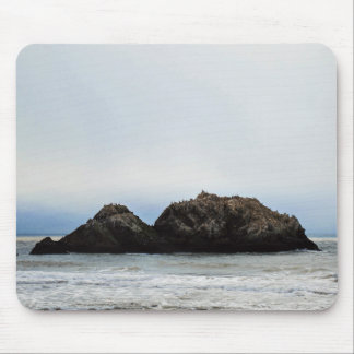 Tiny island in sea mouse pad
