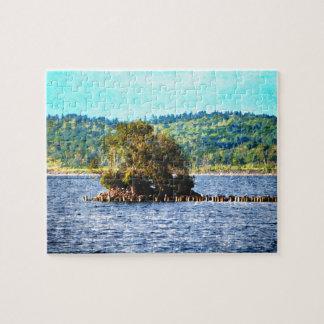 Tiny Island of The Big Lake Jigsaw Puzzle