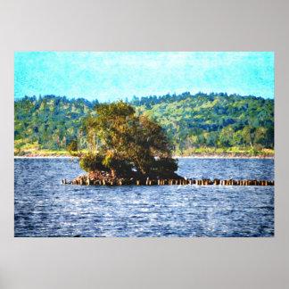 Tiny Island of The Big Lake Poster