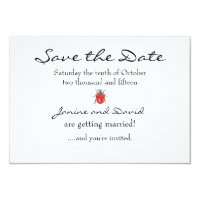 Tiny Ladybird/Ladybug Save the Date card