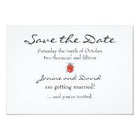 Tiny Ladybird/Ladybug Save the Date card (<em>$1.75</em>)