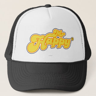 Tiny & Laughing Mr. Happy Trucker Hat