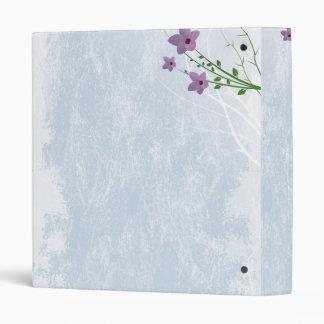 tiny lilacs on distressed light blue binder