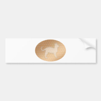 Tiny Little Hearts and White Pusssy Cat Car Bumper Sticker