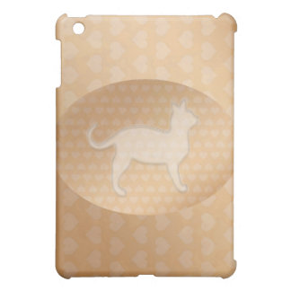 Tiny Little Hearts and White Pusssy Cat iPad Mini Cover