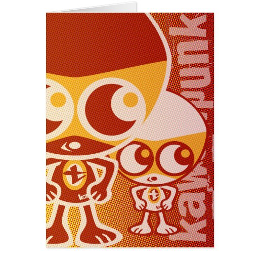 Tiny Mascot Greeting Cards