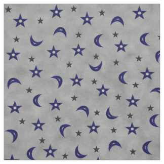 Moon and stars fabric zazzle for Moon and stars fabric