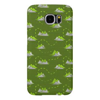 Tiny Mountains Trail GREEN-GREY Samsung Galaxy S6 Case