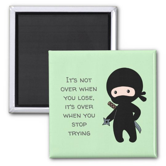 Tiny ninja holding throwing star green quote magnet zazzle tiny ninja holding throwing star green quote magnet reheart Choice Image