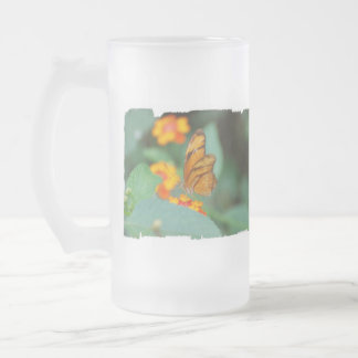 Tiny Orange Butterfly Coffee Mugs