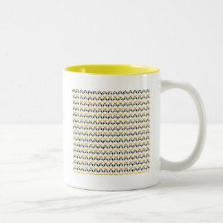 Tiny Penguins Two-Tone Coffee Mug