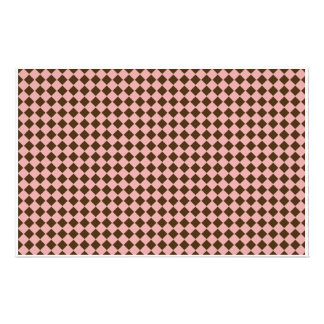 Tiny Pink and Brown Diamonds Scrapbooking Paper