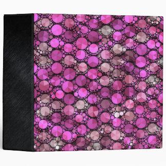 Tiny Pink Bling Pattern 3 Ring Binder