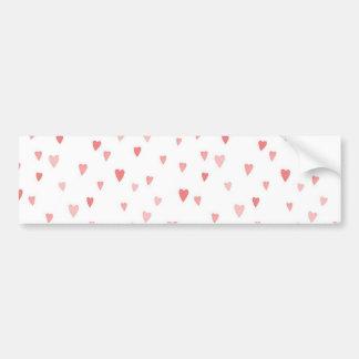 Tiny Pink Hearts Car Bumper Sticker