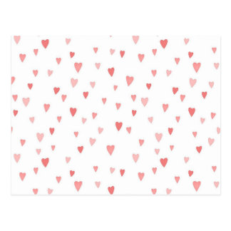 Tiny Pink Hearts Postcard