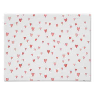 Tiny Pink Hearts Poster