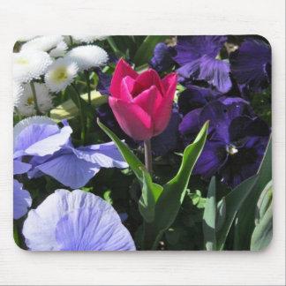 Tiny Pink Tulip Mousepad