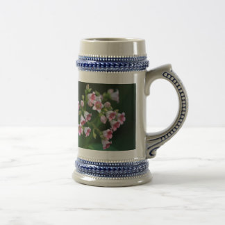Tiny Pink Wildflowers Beer Stein