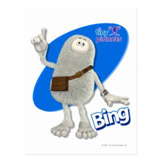 Tiny Planets Bing - A-ha! Postcard