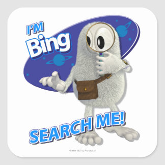 Tiny Planets Bing - Search me! Square Sticker