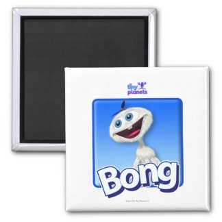 Tiny Planets Bong - Beanie 2 Inch Square Magnet
