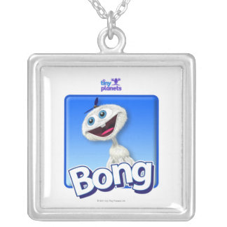 Tiny Planets Bong - Beanie Square Pendant Necklace