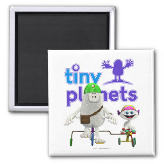 Tiny Planets Easy Rider 2 Inch Square Magnet