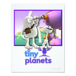 Tiny Planets Flocker Spotter Personalized Invitations