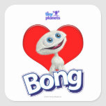 Tiny Planets - I Love Bong Square Sticker