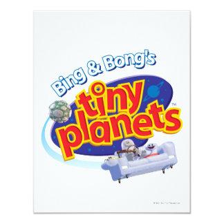 Tiny Planets Logo 4.25x5.5 Paper Invitation Card