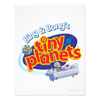 Tiny Planets Logo Personalized Announcements