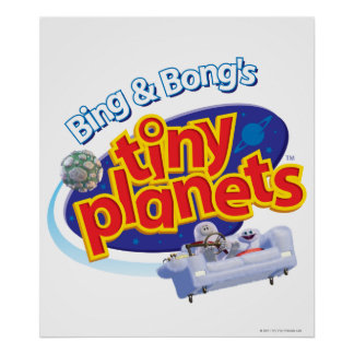 Tiny Planets Logo Poster