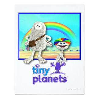 Tiny Planets - Making Rainbows 4.25x5.5 Paper Invitation Card