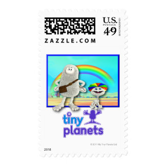 Tiny Planets - Making Rainbows Postage Stamps