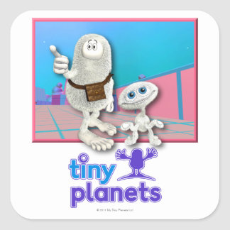 Tiny Planets - Planet of Stuff Square Stickers
