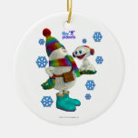 Tiny Planets Snow Problem Double-Sided Ceramic Round Christmas Ornament