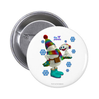 Tiny Planets Snow Problem Pinback Button