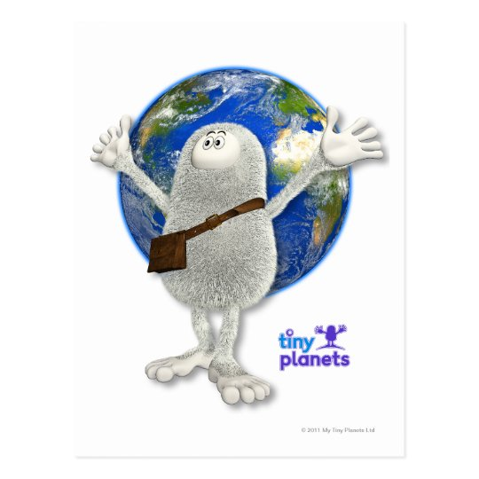 Tiny Planets Whole World Postcard