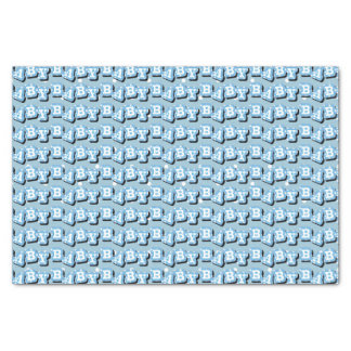 "Tiny Polka Dots on Blue Background for Baby 10"" X 15"" Tissue Paper"