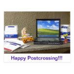 Tiny Postcrossing Mail Room Postcard