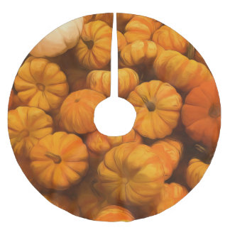 Tiny Pumpkin Gourds Brushed Polyester Tree Skirt
