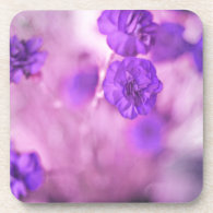 Tiny Purple Flowers Beverage Coaster