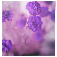 Tiny Purple Flowers Cloth Napkin