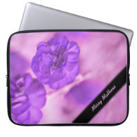 Tiny Purple Flowers Fractal Personal Laptop Sleeve