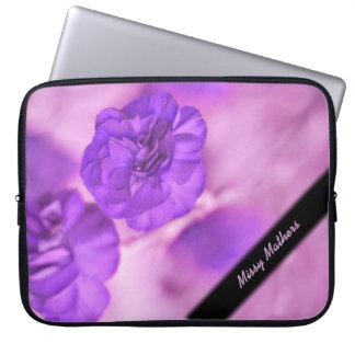Tiny Purple Flowers Fractal Personal Laptop Sleeve