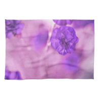 Tiny Purple Flowers Hand Towels